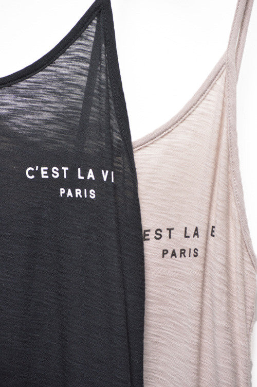 C'est La Vie Tee Dress (2 colors)