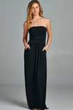 Pocket Maxi Dress - Black