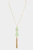 Mint Double Drop Necklace