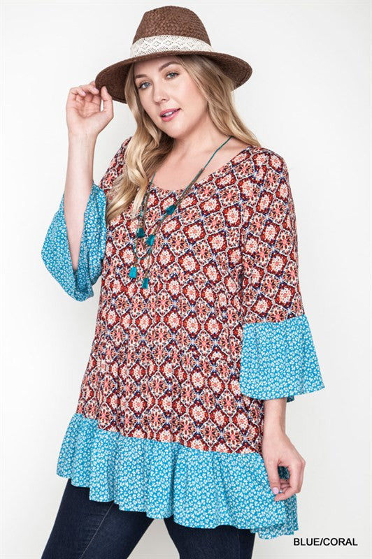 Taryn Bell Sleeve Dress Plus