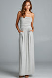 Pocket Maxi Dress - Heather Grey