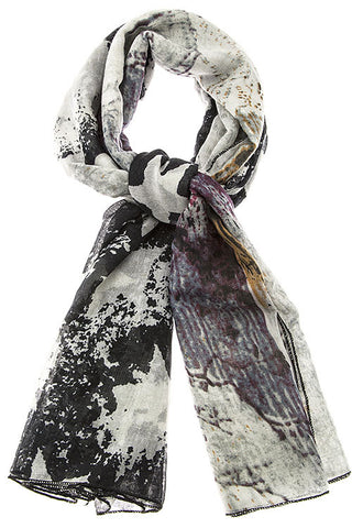 Abstract Flag Scarf