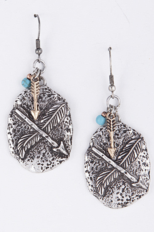 Arrow Pendant Earrings