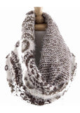 Paisley Fuzzy Scarf (2 colors available)