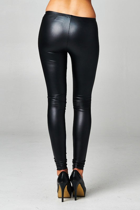 Nightime Falls Pleather Leggings