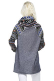 Camp Out Tribal Cowl Neck Top