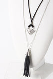 Triangle Tassel Necklace (2 Colors Available)