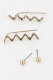 Chevron Earring Set (2 Colors Available)