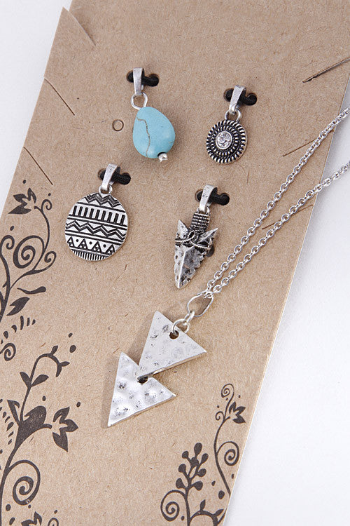 Mix & Match Tribal Charm Necklace ( 2 Colors Available)