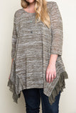 Sage Plus Ruffle Tunic