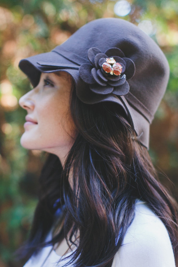 Gem Flower Floppy Hat
