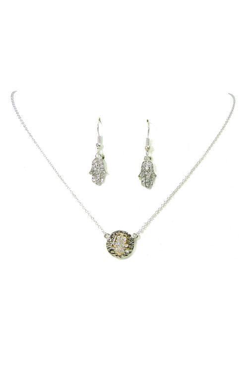 Hamsa Necklace Set