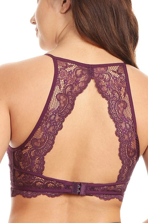 High Neck Lace Halter Bralette (colors available)