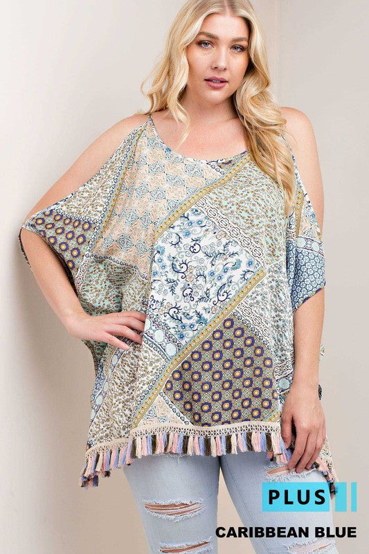 Folk Town Boho Printed Top Plus