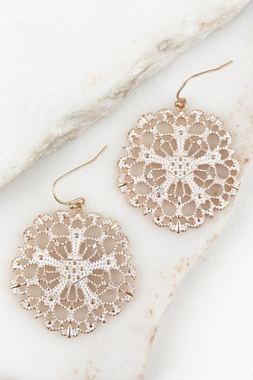White Sands Filigree Earrings