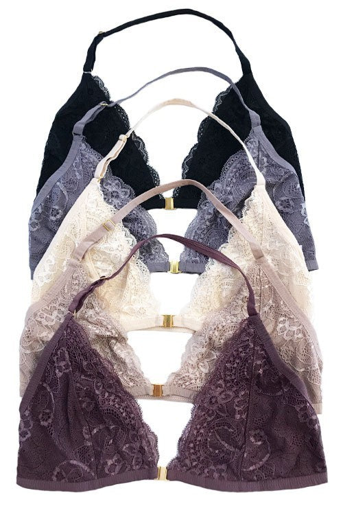 Stay Cute Halter Neck Bralette (pack of 2)
