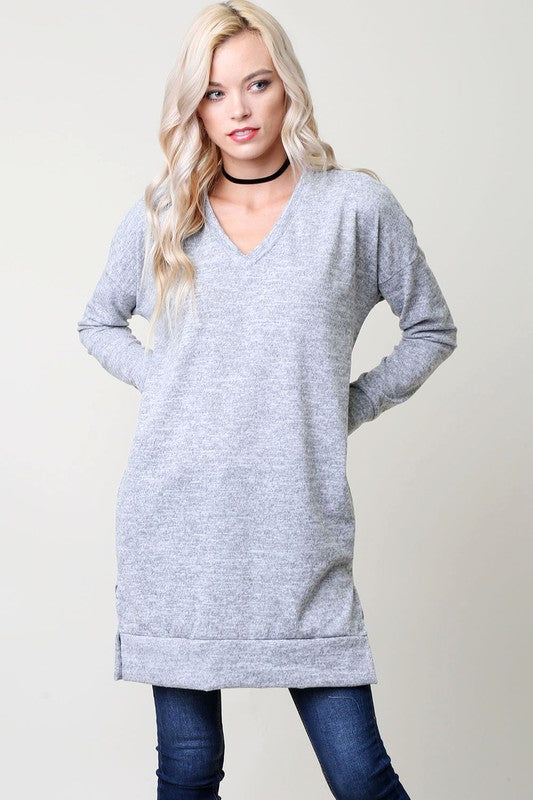 Natasha Pullover (All Sizes) - Heather Grey