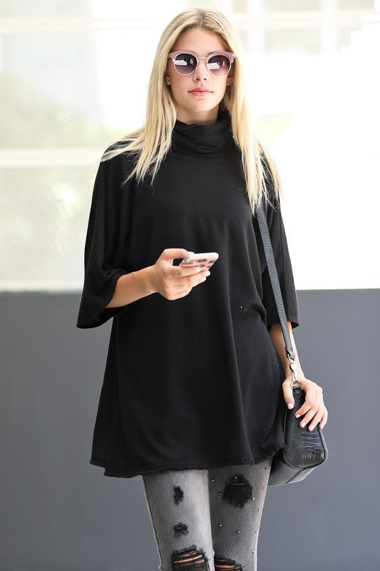 Yuki Turtleneck Top - Black
