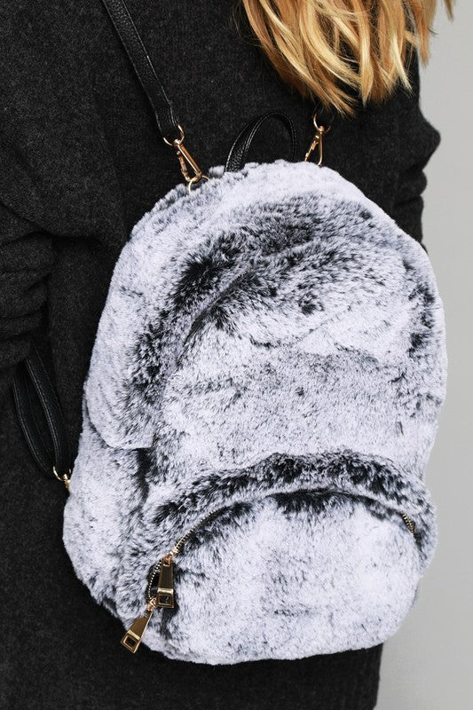 Minx Faux Fur Backpack