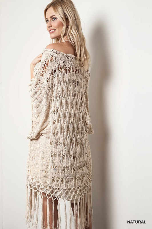 Boho Fringed Sweater (2 colors)