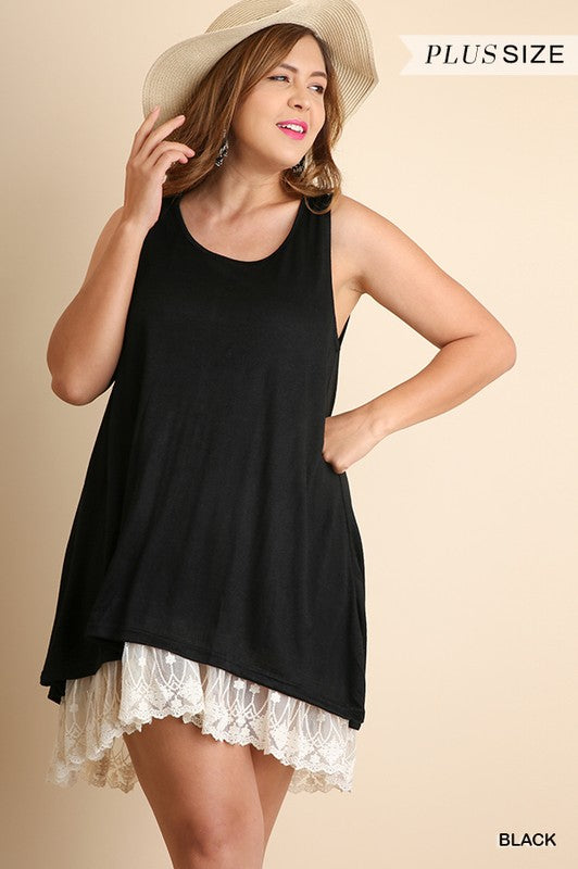 Summer Date Plus Dress - Black