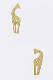 Tiny Giraffe Stud Earrings