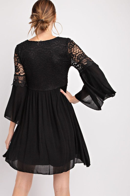 Bewitching Bell Sleeve Dress