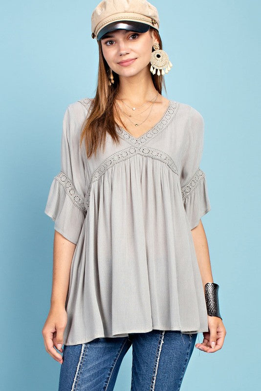 Blooming Bliss Tunic Blouse (Colors available)
