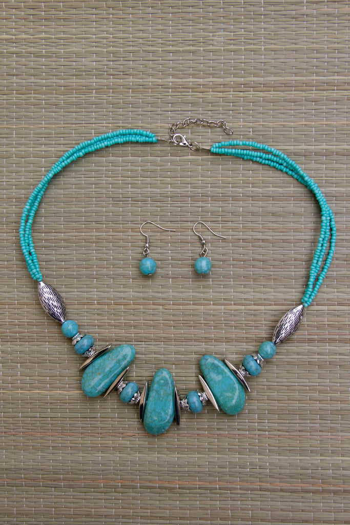 Stony Shores Necklace Set (5 Colors Available)