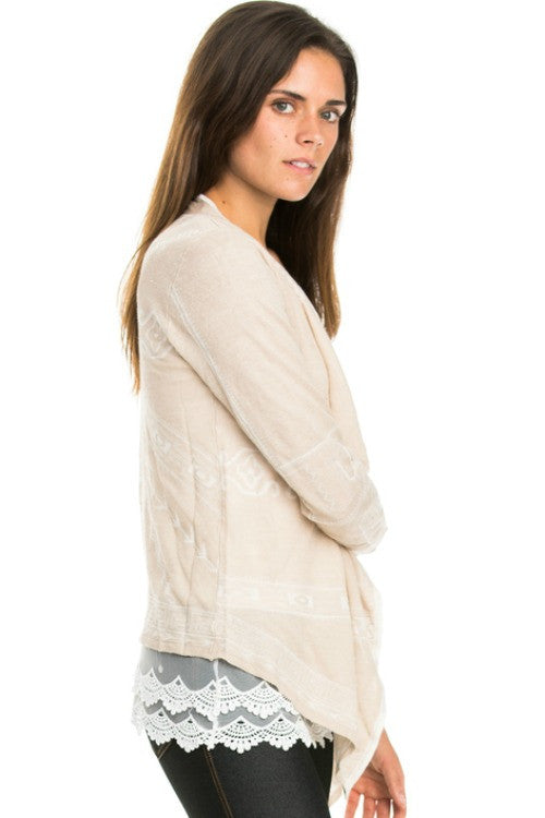 Navajo Waterfall Draped Cardigan