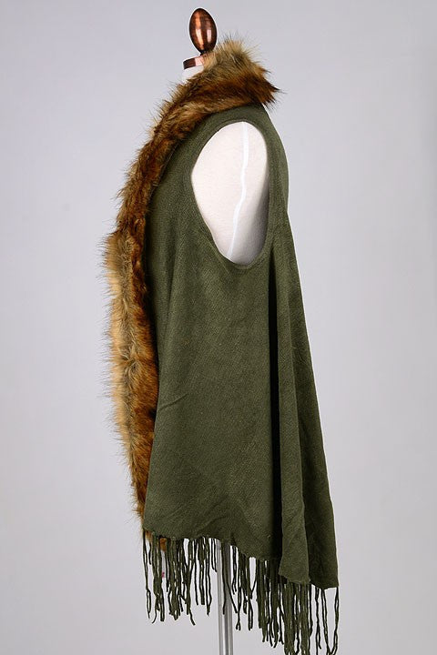 Wrap Me Up Faux Fur Vest (2 Colors)