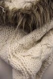 Cable Knit Fur Scarf