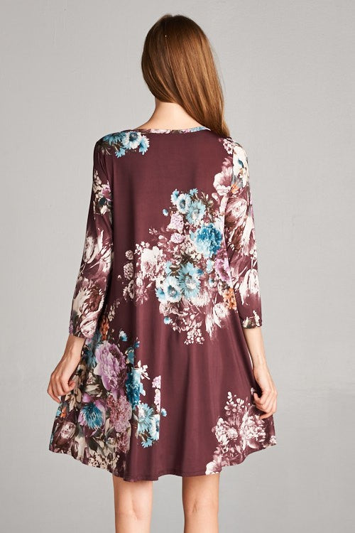 Other Days Floral Tunic Dress