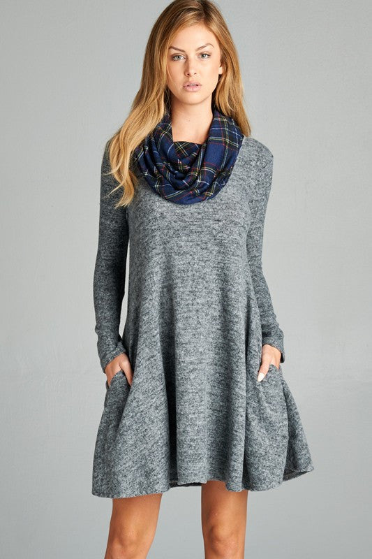 Take A Chance Cowl Neck Dress
