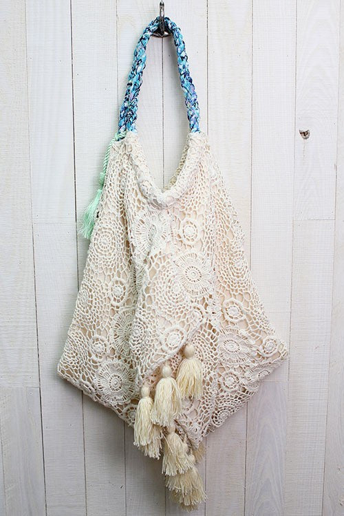 Crochet Beach Bag - Natural