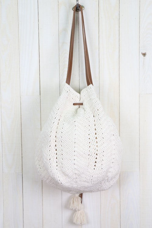 Snow Skin Crochet Beach Bag