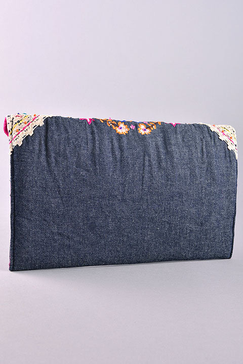 Denim & Floral Purse