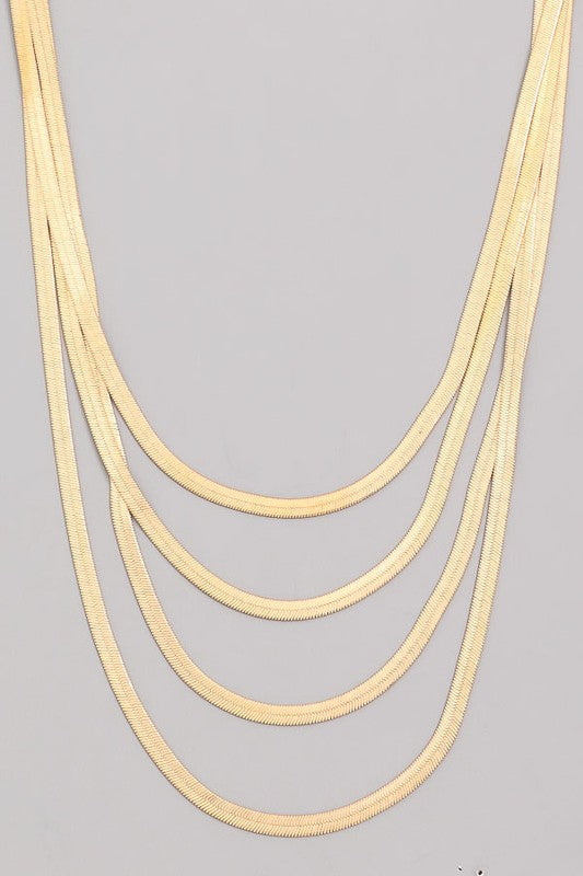 Layered Herringbone Necklace (2 colors)