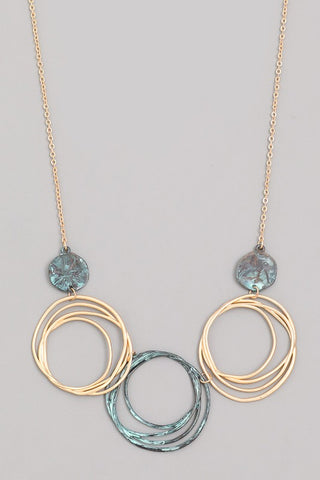 Three Spiral Necklace