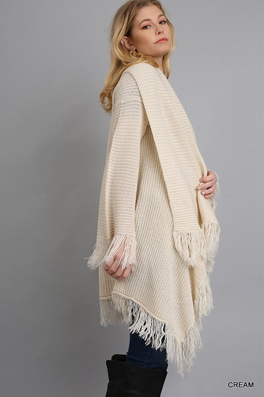 Gorgeous Sweep Duster Cardigan Cream Plus