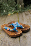 Wooden Sole Sandals - Choose Your Color
