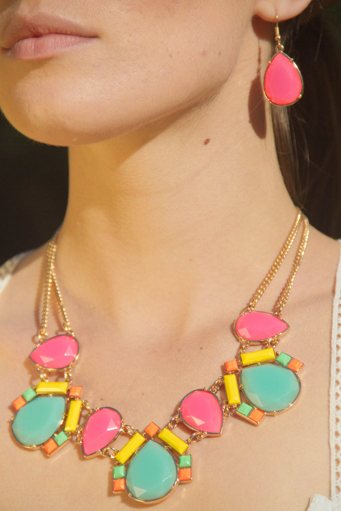 Neon Teardrop Neck Piece (Set)