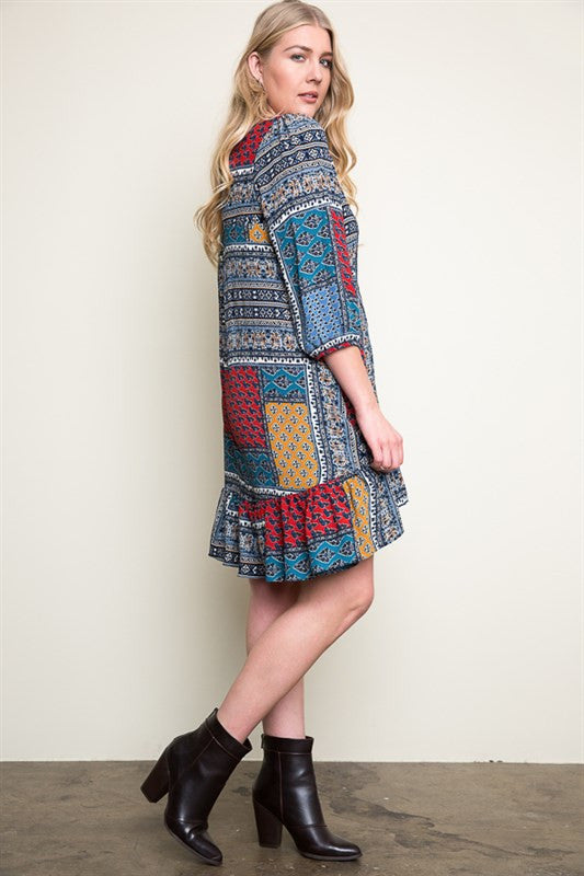 Hallie Grace Printed Plus Dress