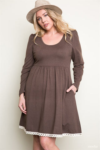 Mocha Delight Plus Dress
