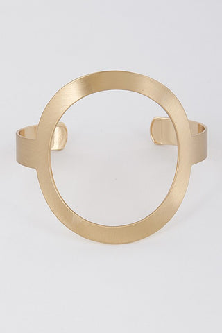 Flat Circle Open Bracelet (2 colors)