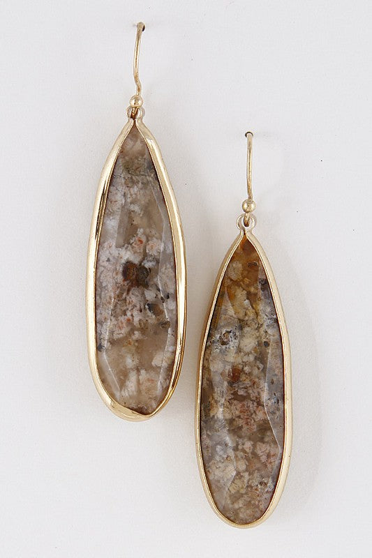 Oval Precious Earrings