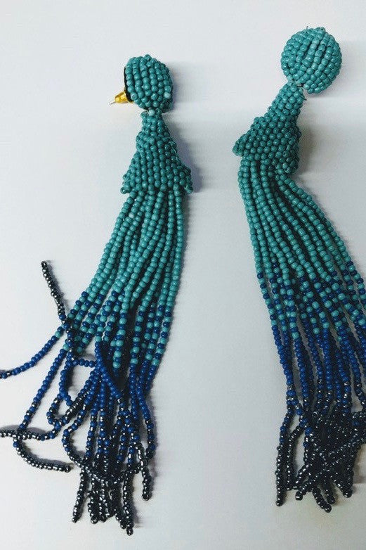 Beach Lover Earrings - Blue