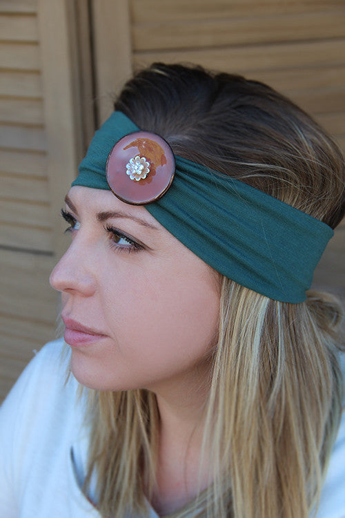 Sunflower Button Headband (3 Colors)