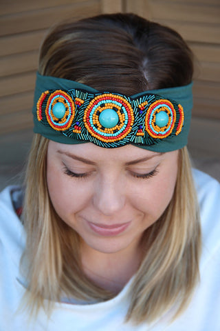 Gwendolyn Beaded Headband