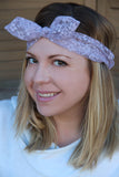 Lace Top Knot Headband (2 colors)